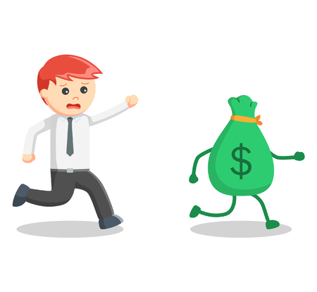 catch: Business man catch money