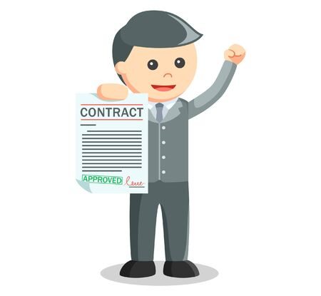 business contract: Business man showing contract