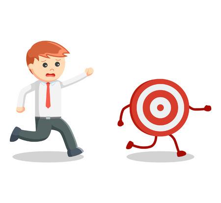 follow the leader: Business man catch target