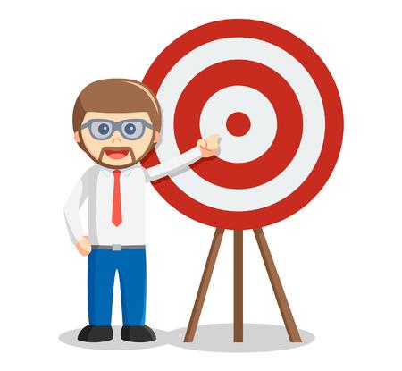 showing: Business man showing target