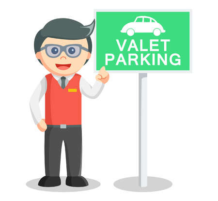 valet: Valet parking illustration Illustration