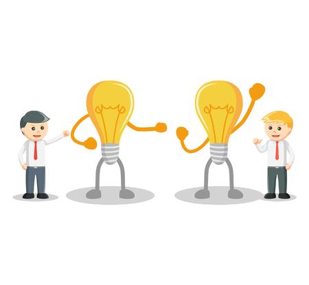 dominate: Business man Idea competition