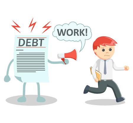 shackled: Debt ensalved business man