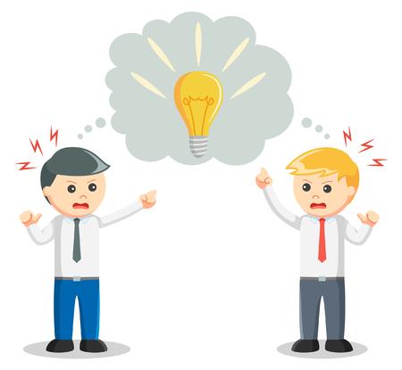 negotiation: Idea negotiation illustration