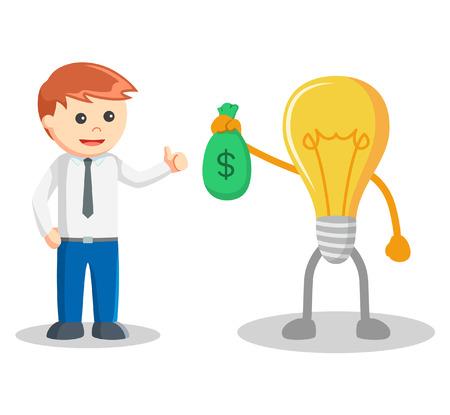 bring: Idea bring sack of money Illustration
