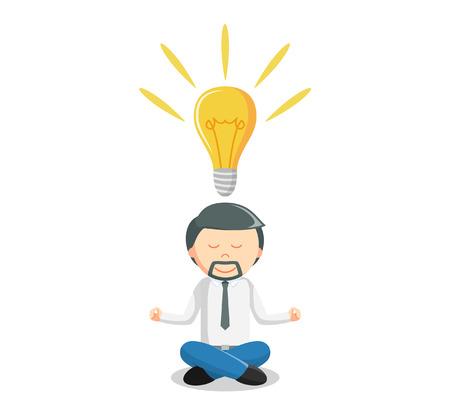 Idea meditate  illustration Illustration