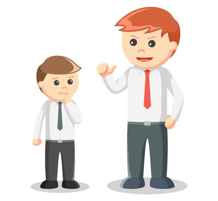 intimidating: Business man intimidate Illustration