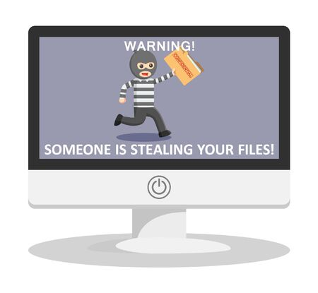 stealing: Stealing file illustration Illustration