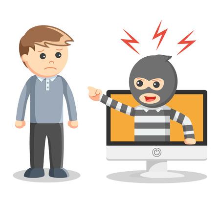 identity theft: Hacker abused illustration