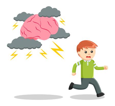 incorrect: Stress boy illustration