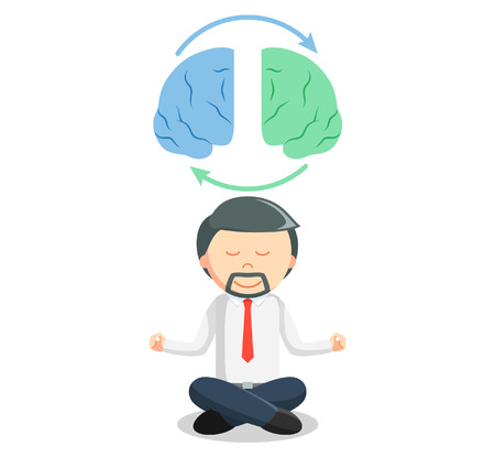 to the right: Business man brain meditation