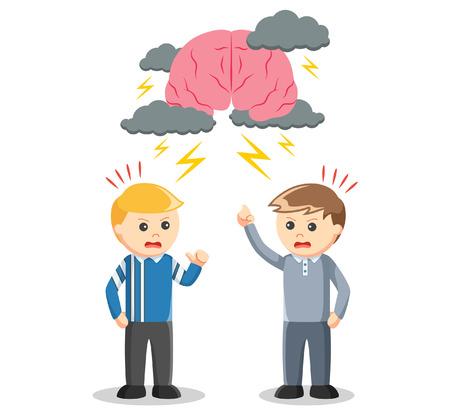 business team: Brainstroming business team Illustration