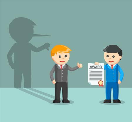 pretend: Bad employee appreciate boss award