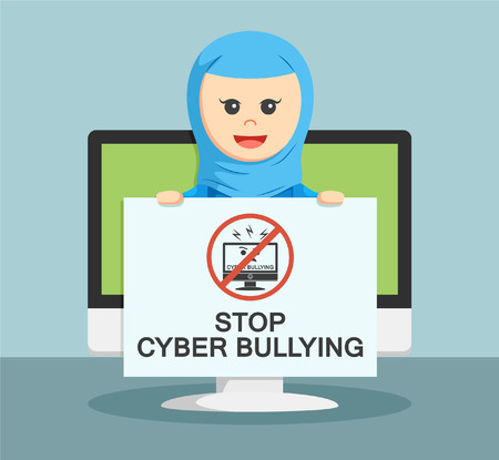 cyber girl: businesswoman tell if he stops cyber bully shown to all people