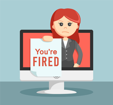 notify: businesswoman notify if your fired