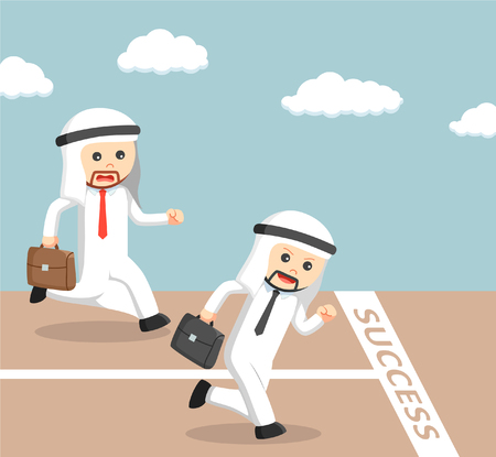vying: arab businessman vying for success