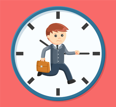 busy person: businessman rush hour Illustration