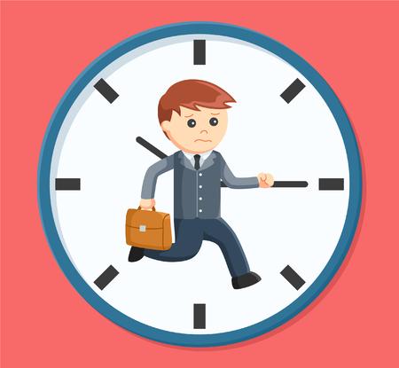 rush hour: businessman rush hour Illustration