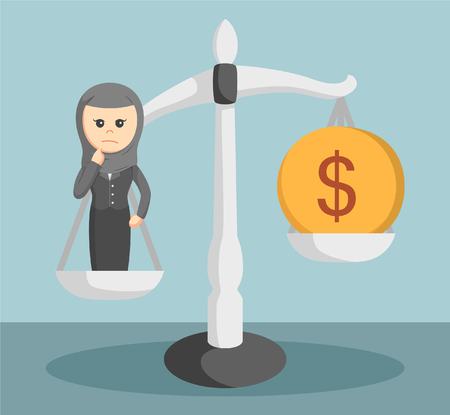 arab businesswoman low price Illustration