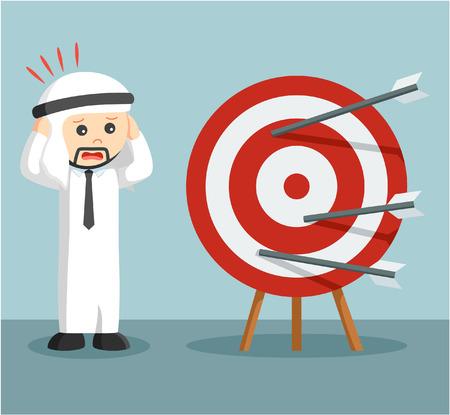 arab businessman panic miss target