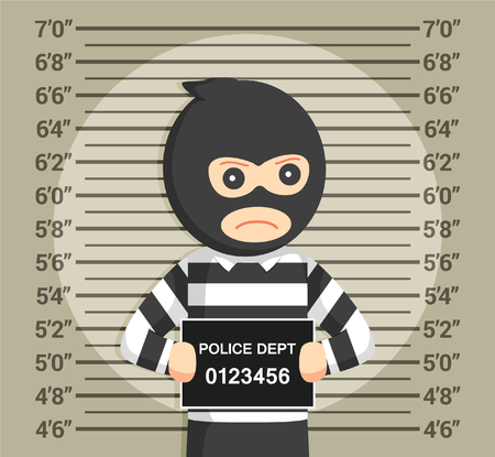 ruffian: thief with mugshot background