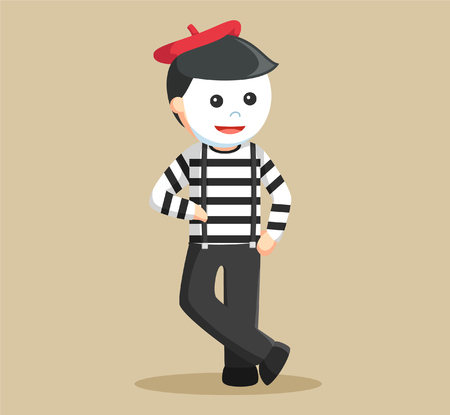 pantomime: mime performing pantomime learning