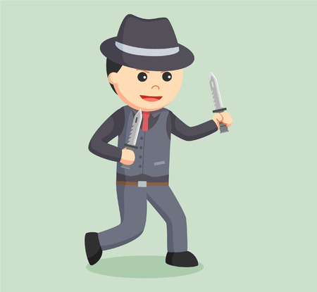 godfather: mafia holding dual knife