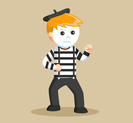 mime: mime performing pantomime fighting