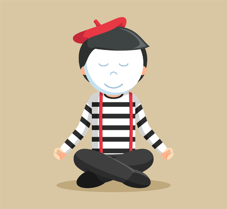 pantomime: mime performing pantomime mediation