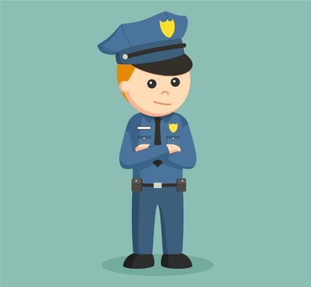 arms folded: police officer illustration design
