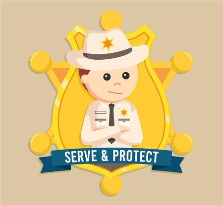 sheriff: Sheriff emblem vector illustration design Illustration
