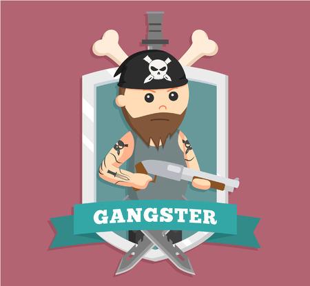 Gangster Fat dans l'emblème