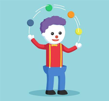 costume ball: clown juggling ball colorful