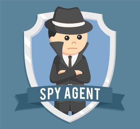 espía en el emblema de diseño ilustración vectorial Ilustración de vector
