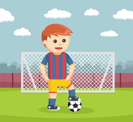 soccer ball player in stadium
