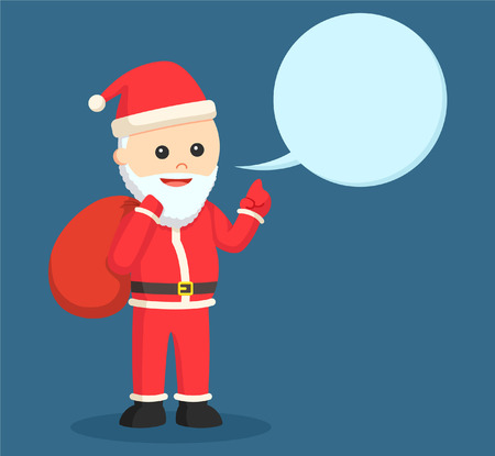 church people: santa claus with callout