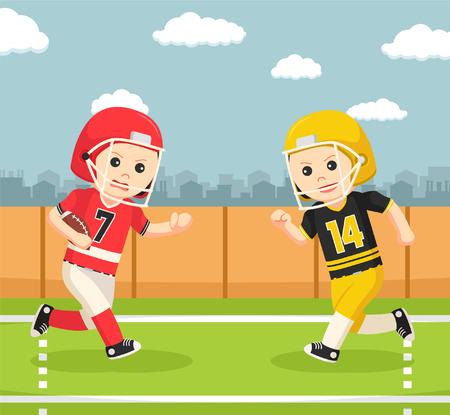 costume ball: american football player confrontation Illustration