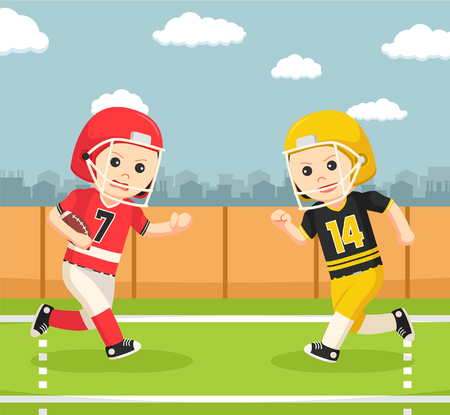american football player confrontation Illustration