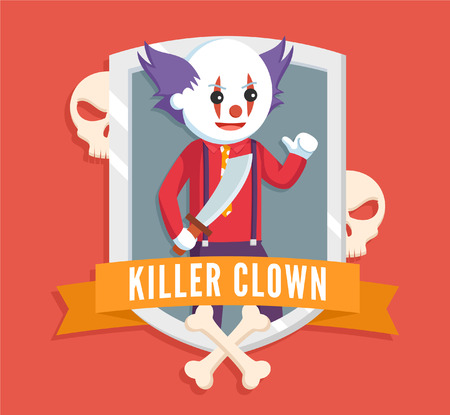 killer clown  vector illustration design