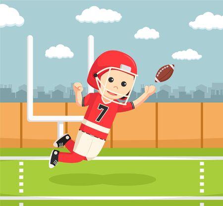 costume ball: american football player catching ball Illustration