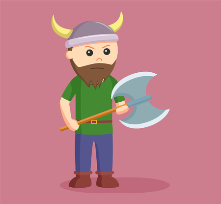 viking soldier wield axe