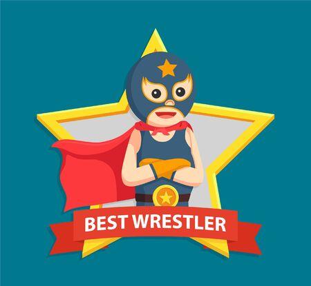 lucha libre in best emblem