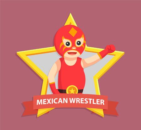 lucha libre in wrestler emblem