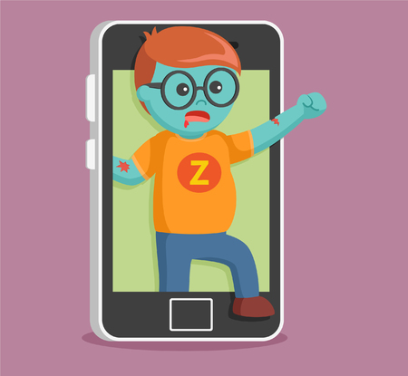 came: zombie came out from smartphone