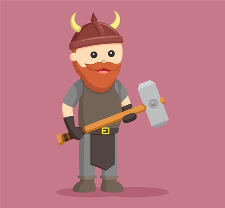 dwarf warrior with sledgehammer