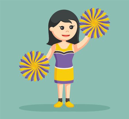 cheer leader standing pose