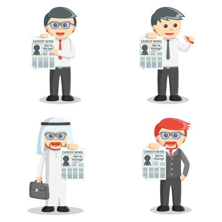 vacancy: businessman job vacancy set