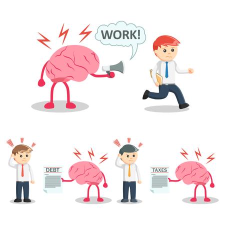 businessman and brain set 2