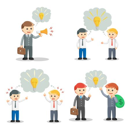 callout: businessman with idea callout set
