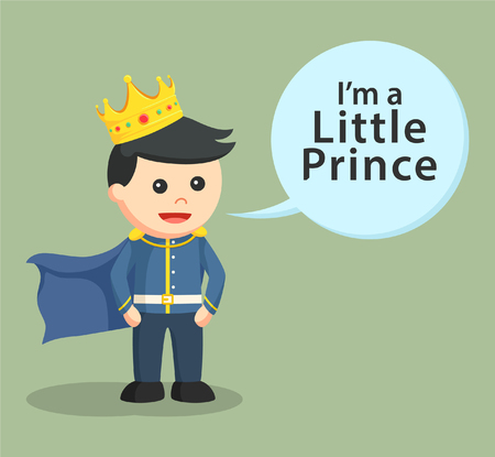 royal person: little prince with callout
